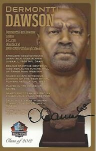 Dermontti Dawson Pittsburgh Steelers Football Hall Of Fame Autographed Bust