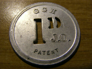 A large G.G.H Old One Penny Token, nice condition 33mm