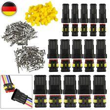 15 Paare Steckverbinder Stecker Elektrik Wasserdicht 2-4 Polig KFZ Kabel Stecker