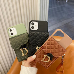 For iPhone 12 Pro Max 12 Mini 11 Pro 7 8 Handbag Wallet Strap Phone Case Cover