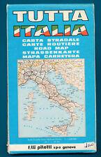 vintage wegenkaart TUTTA ITALIA , carta stradale 1:1.000.000