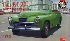 """RUOTE Militare 1/72 gaz-m20 """"Pobeda"""" Cabriolet, AUTO SOVIETICA # 7261"""