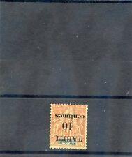 TAHITI Sc 31b(YT 32a)*F-VF LH, 1903 10c/40c RED ORANGE, INVERTED SURCHARGE, $200