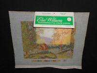 Vtg New Elsa Williams COUNTRY HOUSE 14ct. Mono Handprinted Needlepoint Canvas