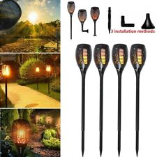 More details for 4x 96 led flame solar torch light waterproof flickering dancing path garden lamp