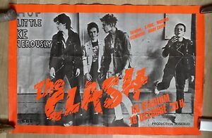 The Clash Original 1978  Poster vintage