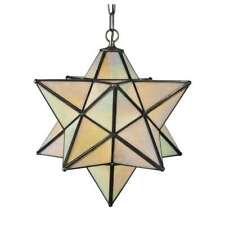 Meyda Lighting 18'W Moravian Star Beige Iridescent Pendant, Bai - 12114