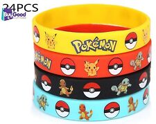 24 Count Pokemon Rubber Bracelet Wristband Birthday Party Favors Supplies NEW