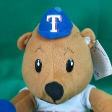 NEW TEXAS RANGERS BASEBALL TEDDY BEAR NUMBER ONE FAN HAT PLUSH STUFFED ANIMAL