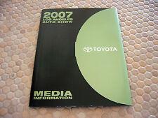 TOYOTA OFFICIAL LA AUTOSHOW FULL CD ROM PRESS KIT BROCHURE 2008 MODEL YEAR