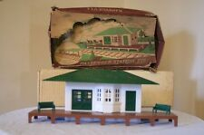 Early Bachmann Plasticville O Scale Passenger Station RS-7 RARE OPEN CHIMNEYHOLE