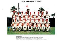 1970 JACKSONVILLE SUNS 8X10 TEAM PHOTO FLORIDA BASEBALL USA