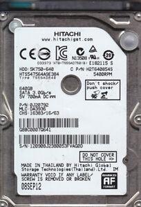 Hitachi HTS547564A9E384 p/n: 0J20792 mlc: DA3936  640GB SATA HDD  7711