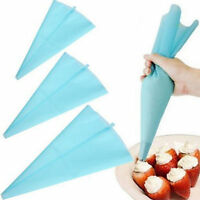 Silicone Reusable Icing Piping Cream Pastry Bag Cake Decorating Tool DIY 3 Sizes
