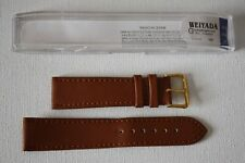 QUALITY Genuine Leather Watch Strap TAN Colour. 20mm. Cased. FREE P&P