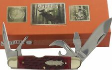 Marbles Red Jigged Bone Scout Utility Pocket Knife MR426 Screwdriver Can Opener