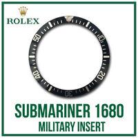 ♛ Military Black Bezel Insert Aluminium Swiss Made For ROLEX Submariner 1680 ♛