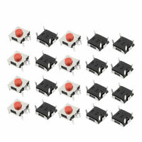 20Pcs 6x6x3.1mm Panel PCB Momentary Tactile Tact Push Button Switch 4 Pin DIP
