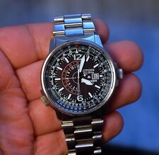 CITIZEN PILOT PROMASTER ECO-DRIVE NIGHTHAWK B877-S015693 working condition