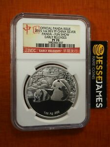 2015 CHINA REVERSE PROOF SILVER PANDA NGC PF70 FUN SHOW FIRST EVER REVERSE PROOF