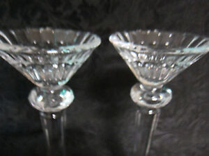 """Gorham Chantilly Collection 8"""" Crystal Candlestick Holders New in Box Set of 2"""