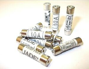 Household fuses. 10 Amp. BS1362. Pack of 6. Domestic Fuses. Mains *Top Quality!
