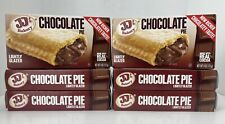JJ's Bakery Lightly Glazed Chocolate Pies 6 Pack 4 oz Each Dessert Snack Food