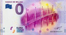 BILLET 0 ZERO EURO SOUVENIR TOURISTIQUE VIADUC DE MILLAU 2016