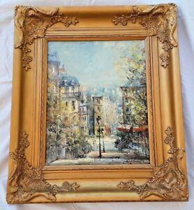 """LUCIEN DELARUE (French 1925-2011), """"Montmatre"""" Paris, Oil on Linen, 13"""" by 16"""""""
