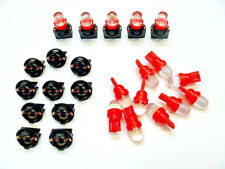 """15 Red Domes LEDs Lights Bulbs 1/2"""" Sockets Instrument Panel Dashboard 194 Ford"""