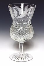 1x EDINBURGH CRYSTAL THISTLE LARGE WATER / WINE GOBLET FIRST QUALITY & SIGNED
