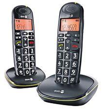 Doro PhoneEasy 100w Duo Schwarz Festnetz Analog-Telefon Großwahltasten Senioren