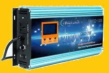 1200W Grid tie power inverter DC 14V-24V to AC 110V + LCD meter L,MPPT for solar
