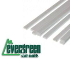 "EG122 Evergreen Strips .020"" x .040"" (0.5 x 1mm) Pack of 10"