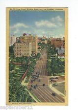 Vintage Postcard Palm Lined Wilshire Boulevard, Los Angeles, California, Cars