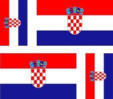 4x sticker Adesivo Adesivi decal decals Vinyl auto moto bandiera Croazia croata