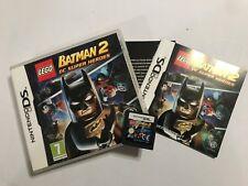 NINTENDO DS DSL DSi GAME LEGO BATMAN 2 DC SUPER HEROES +BOX INSTRUCTION COMPLETE