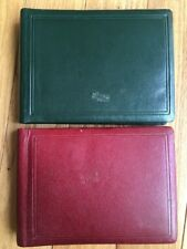 Vintage Leather Green Red Lot Of Two Photo Albums Unused