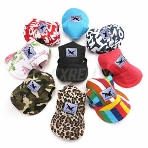 Pet Dog Cat Canvas Visor Hat Sun Protector Baseball Cap Puppy Outdoor Sunbonnet