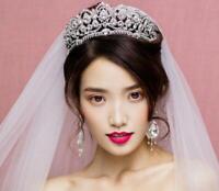 Rhinestone Crystal Wedding Tiara Bridal Jewelry Prom Princess Queen Diadem