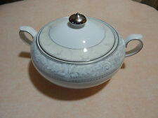 """Royal Doulton Naples Platinum Vegetable Tureen First quality approx 9"""" dia"""