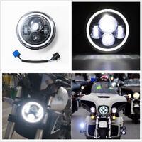 1 Pcs 7 inch Motorcycle Car LED Headlight Halo Daytime Running Light Waterproof