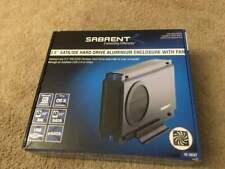 """SABRENT 3.5"""" SATA / IDE HARD DRIVE ENCLOSURE  FAN  USB 2.0 ESATA W/ 1TB WD Hdd"""