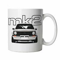 Mk2 Escort Mug - Classic Car Gift for Him Dad, Fathers Day Birthday