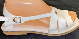 Kino White  Sandals Size 8 From The Florida Keys New