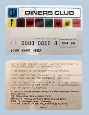 Diners Club Card Replica 1960s-1970s Fully Customizable Credit Card Bank Card