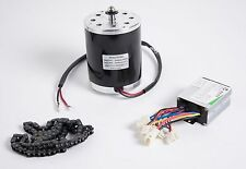 500 Watt 24 V electric brush motor kit w speed control box & chain f DIY project