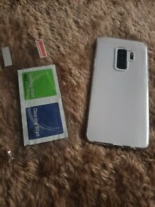 Clear Slim Gel Case/Cover Samsung Galaxy S9 plus and screen protector
