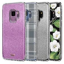 Galaxy S9 / S9 Plus Case Ciel [Colette] Shockproof Slim Glitter Floral PC Cover