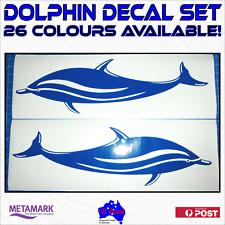 2x DOLPHIN decals stickers.Boat,car,camper van,caravan,kayak,surf ski.26 colours